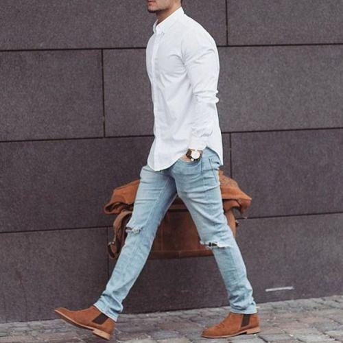 What to Wear with Light Blue Jeans