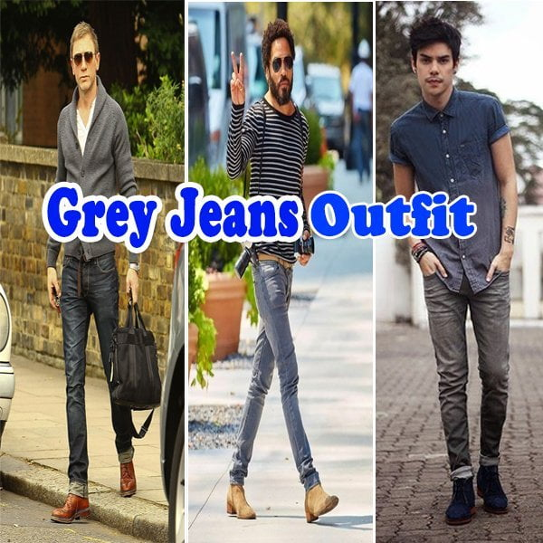 What to wear with grey jeans , Stylish Outfit Ideas For 2019