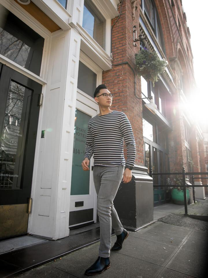 What to wear with grey jeans