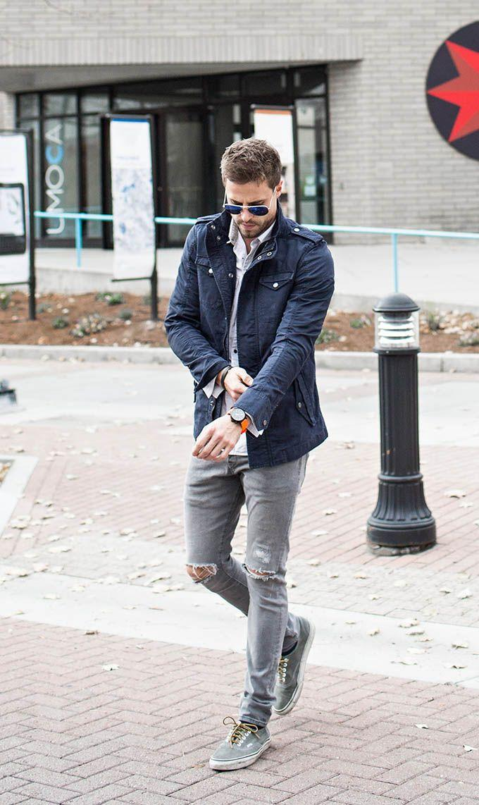 What To Wear With Grey Jeans Stylish