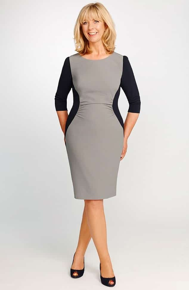 Gray and Black - How to Dress Over 50 and Overweight