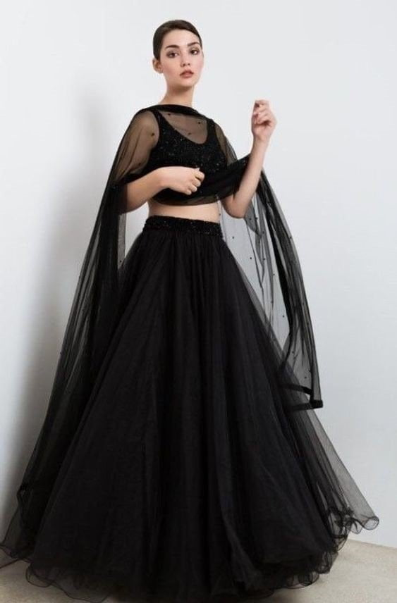 long black skirts, bullet top with long skirts