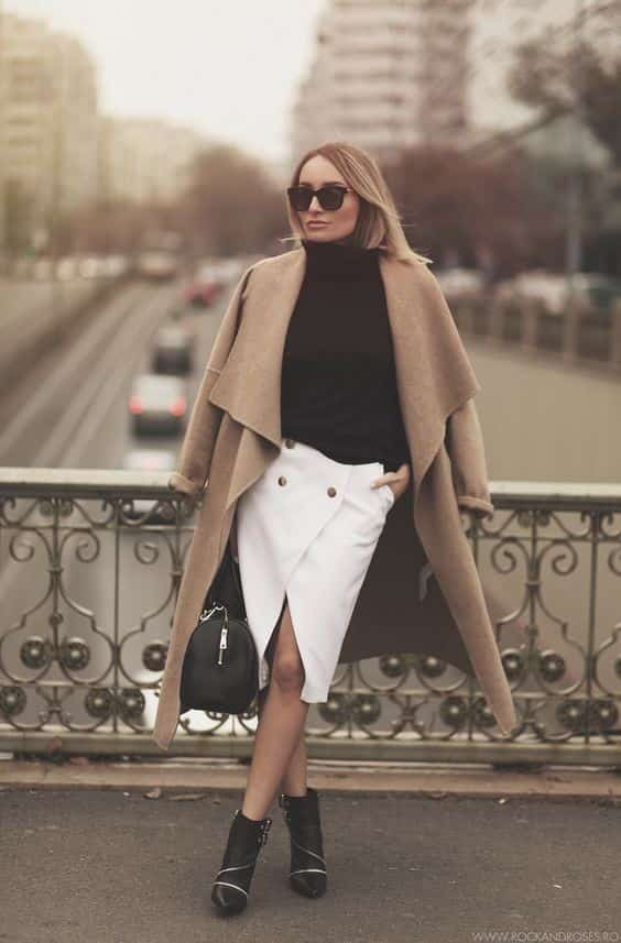 white skirts outfit,skirts outfit for office