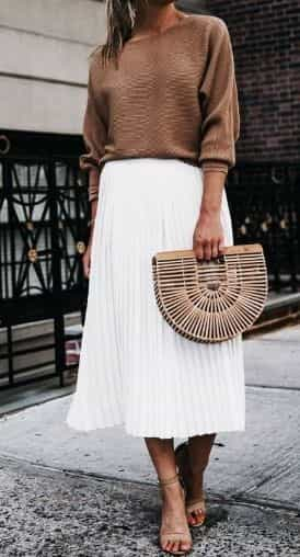 white skirts outfit, white skirts for fall