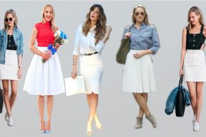 white skirts outfit