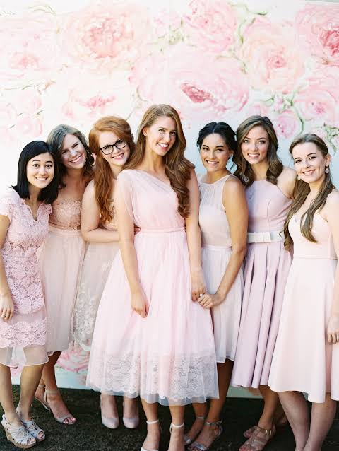 What To Wear To a Bridal Shower,natural color dress for bridal shower
