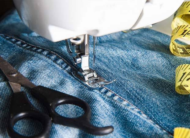 how to taper jeans, jeans sewing