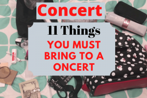 what to bring to a concert