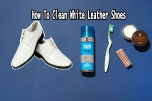 How to clean white leather shoes