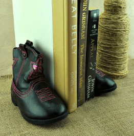 old shoes use for bookends