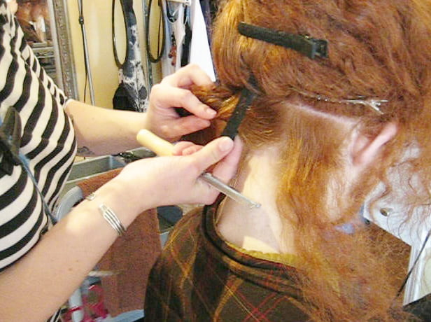 Section Your Hair for getting dreadlock